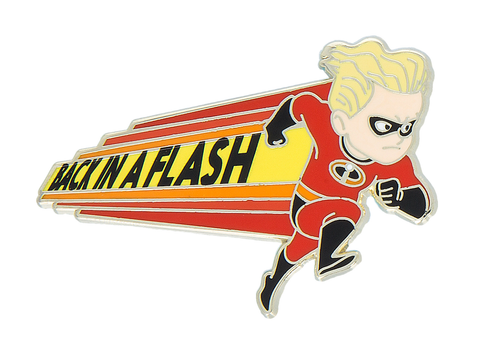 Dash Back in a Flash The Incredibles 2 Disney Pin