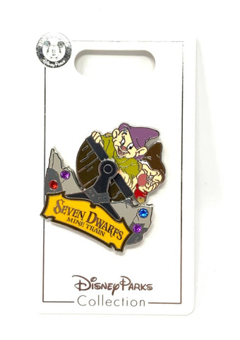 Dopey and Grumpy Seven Dwarfs Mine Train Disney Pin