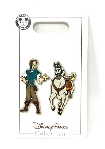 Flynn Rider and Maximus Tangled Disney Pin Set