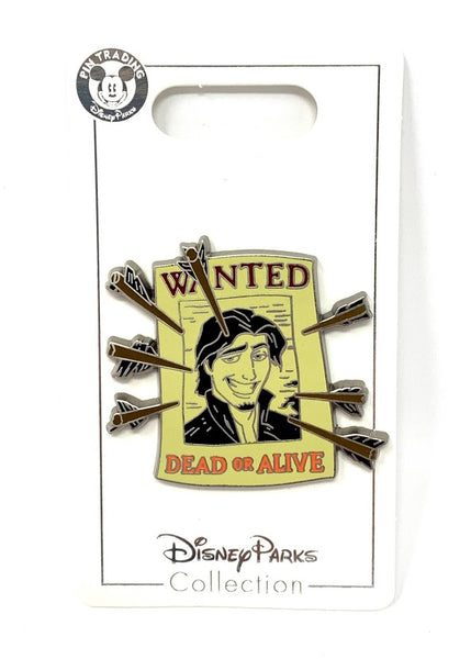 Flynn Rider Wanted Poster Disney Pin