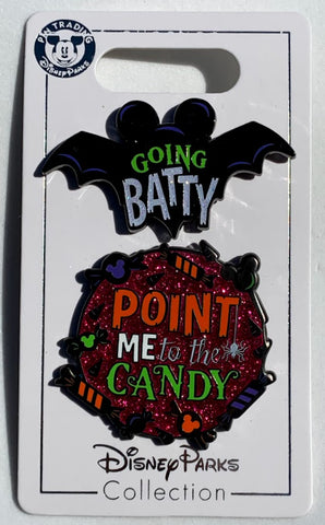 Going Batty and Point Me To The Candy Halloween 2019 Disney Pin