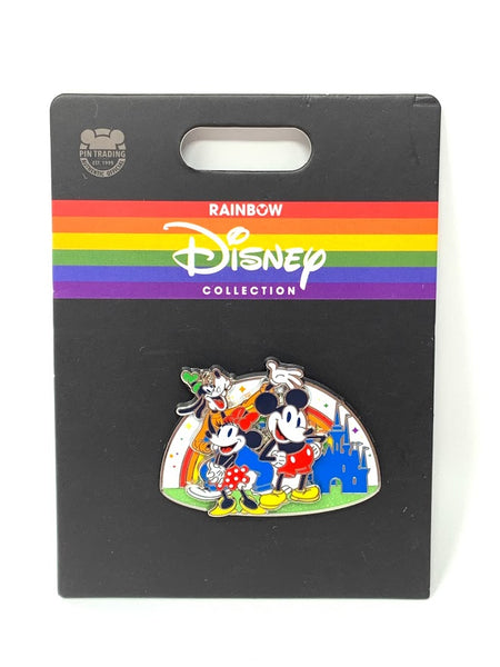 Goofy Mickey and Minnie Cinderella Castle Rainbow Collection Disney Pin