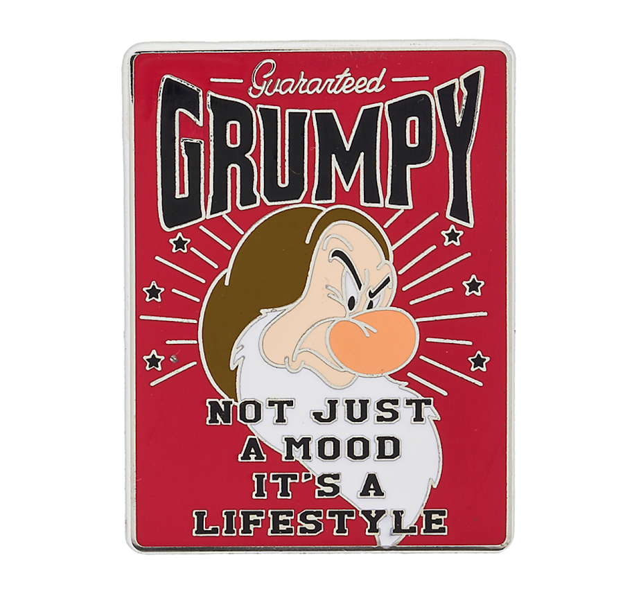 Grumpy Lifestyle Disney Pin