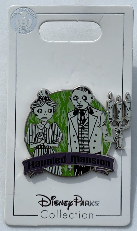 Haunted Mansion Maid and Butler Disney Pin