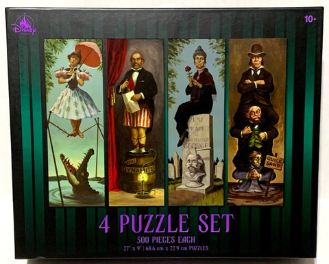 Haunted Mansion Stretching Room Portraits 4 in 1 Puzzle Collection