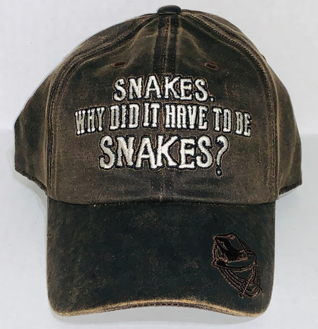 Snakes Why Did It Have To Be Snakes Indiana Jones Disney Baseball Cap