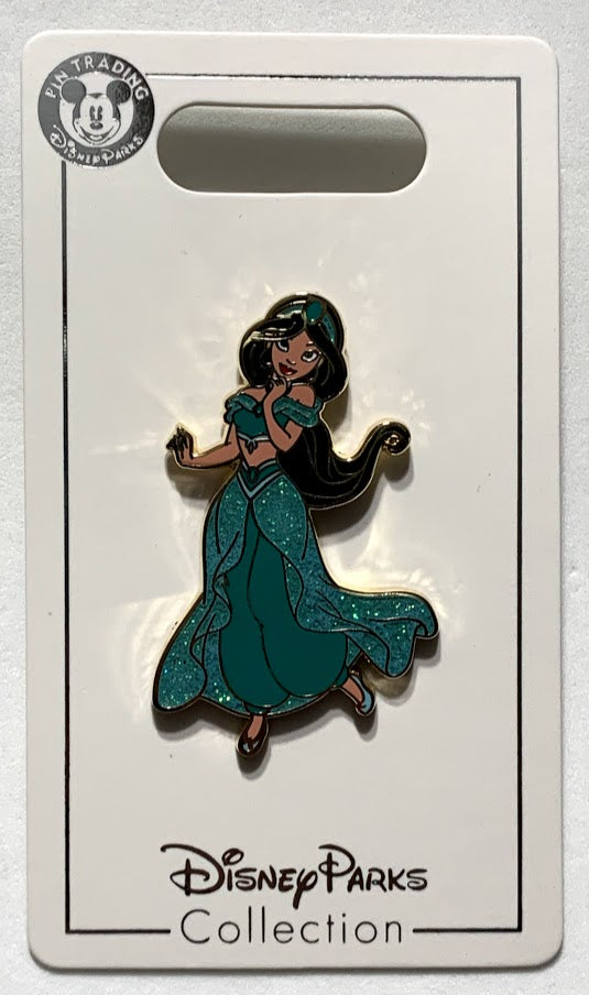 Jasmine Glitter Dress Disney Pin