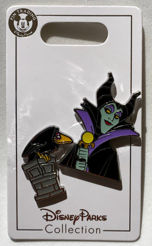 Maleficent and Diablo Sleeping Beauty Disney Pin Set
