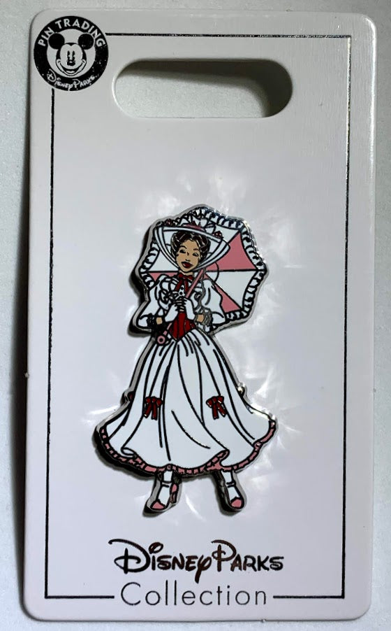 Mary Poppins White Dress Disney Pin