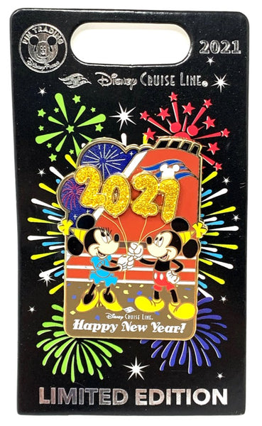 Mickey and Minnie Happy New Year 2021 Disney Cruise Line Pin