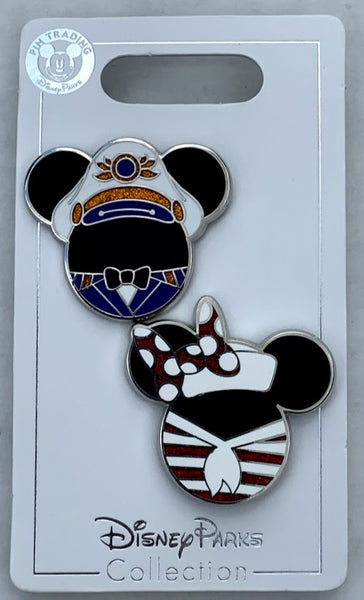 Mickey and Minnie Icons Disney Cruise Line Pin Set
