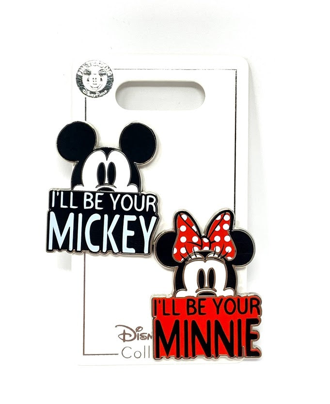 Mickey and Minnie I'll Be Your Mickey I'll Be Your Minnie Disney Pin Set