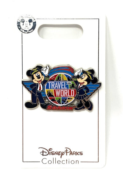 Mickey and Minnie Mouse Travel the World Soarin' Disney Pin