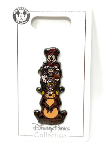 Mickey Goofy Donald and Humphrey Bear Totem Pole Wilderness Lodge Disney Pin