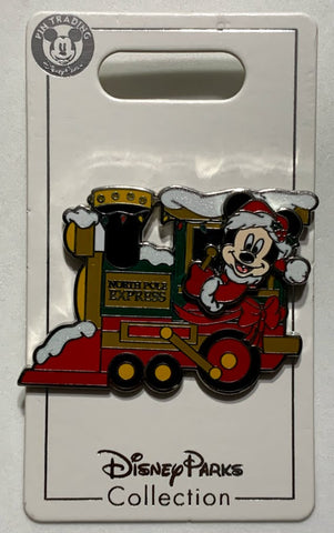 Mickey Mouse North Pole Express Train Christmas Disney Pin