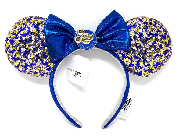 Mickey Mouse Passholder Minnie Mouse Ears Headband with Bow