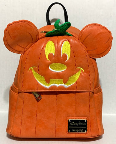Mickey Pumpkin Halloween Loungefly Backpack