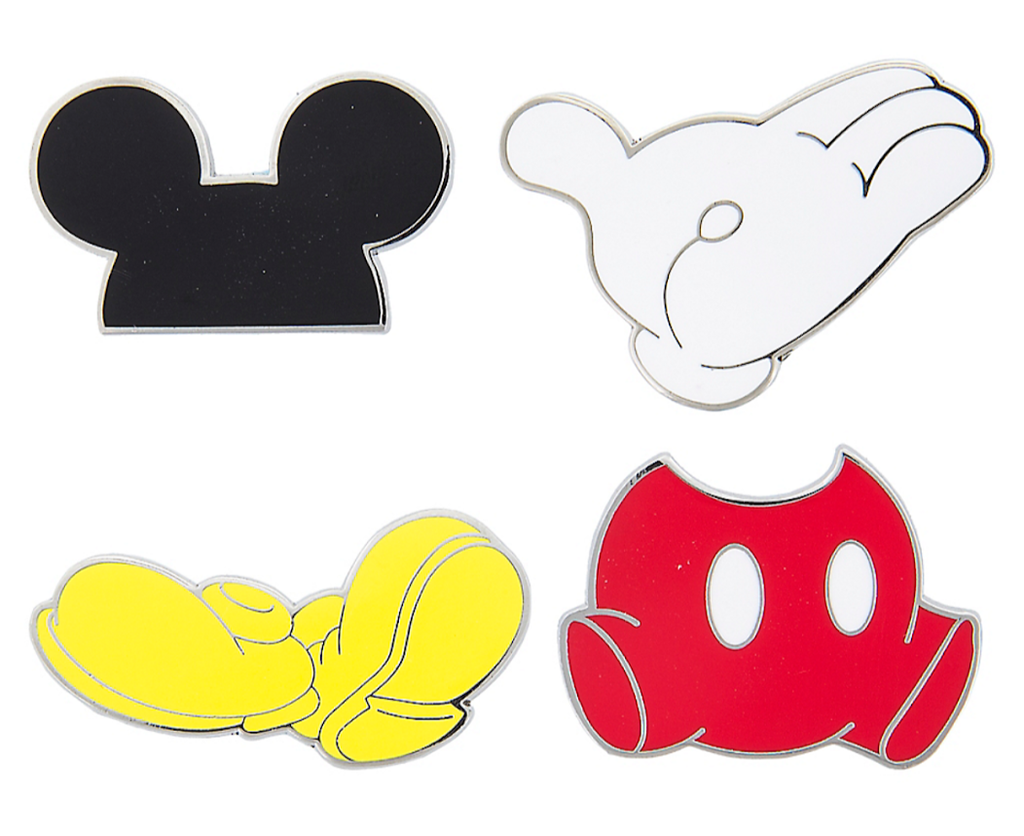 Mickey Mouse Flair Disney Pin Set