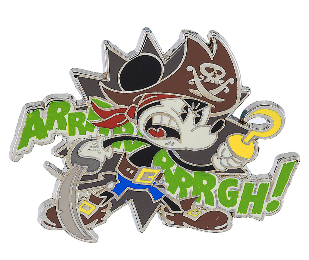 Pirate Mickey Mouse Disney Pin