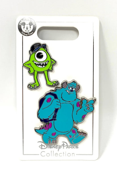 Mike and Sulley Monsters University Disney Pin Set