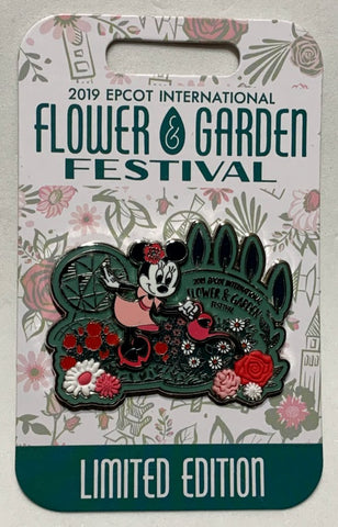 Minnie Mouse 2019 Epcot Flower and Garden Festival Disney Pin