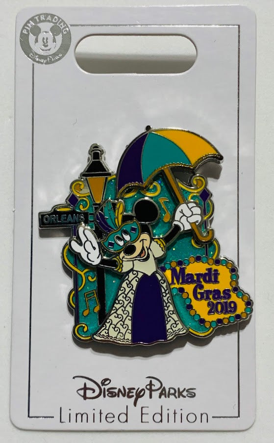 Minnie Mouse Mardi Gras 2019 Disney Pin