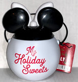 Minnie Mouse Mini Snowman Candy Bucket with Gummi Snowmen and Trees