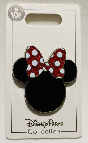 Minnie Mouse Icon with Glitter Bow Disney Pin