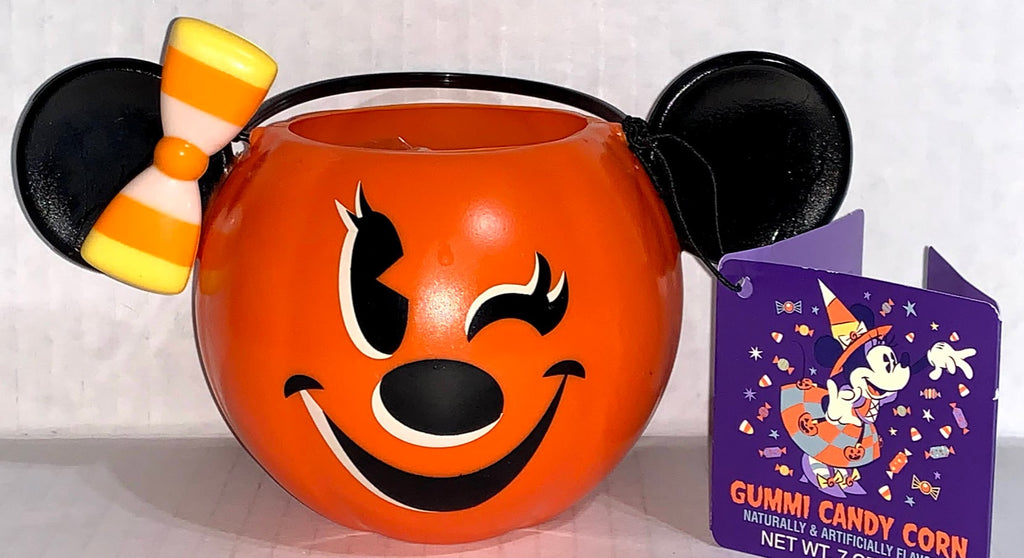 Minnie Mouse Mini Pumpkin Candy Bucket with Gummy Candy Corns