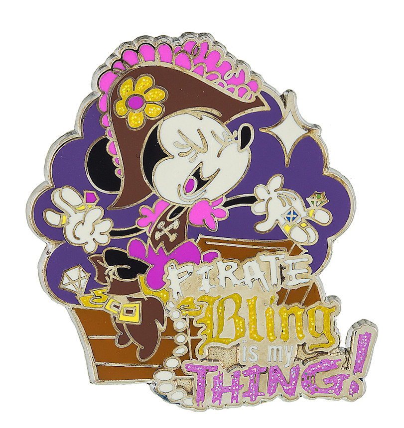 Minnie Mouse Pirate Bling Is My Thing Disney Pin