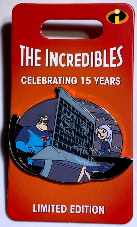 Mr. Incredible and Mirage The Incredibles 15th Anniversary Disney Pin