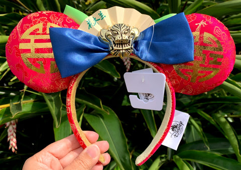 Mulan Minnie Mouse Ears Headband with Bow
