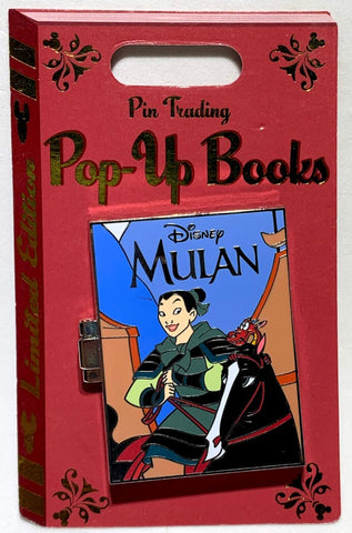 Mulan Pin Trading Pop Up Books Disney Pin
