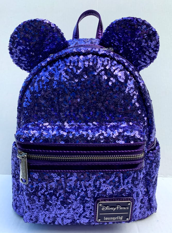 210b51747b9 Potion Purple Sequined Mouse Ears Loungefly Backpack – My Disney Shop