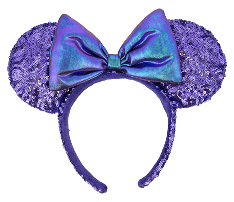 Potion Purple Minnie Mouse Ears Headband with Bow