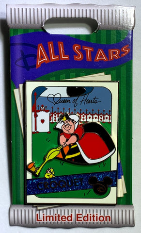 Queen of Hearts Croquet All Stars Trading Card Disney Pin