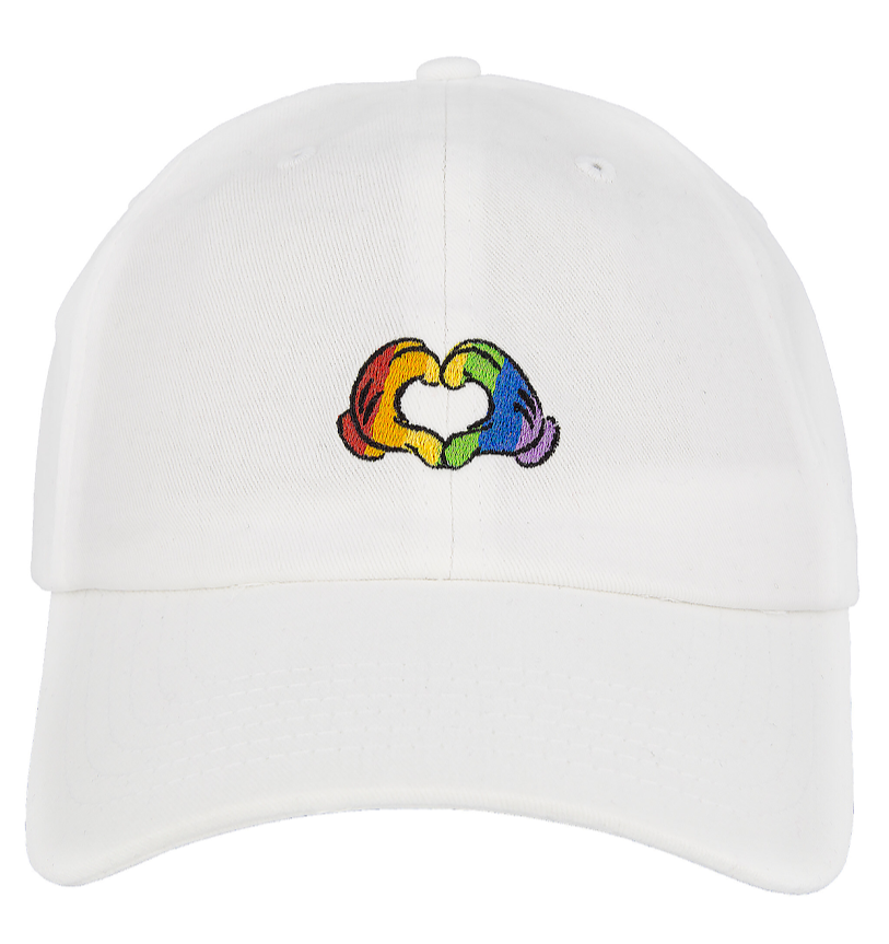 Rainbow Mickey Mouse Gloves Heart Disney Baseball Cap