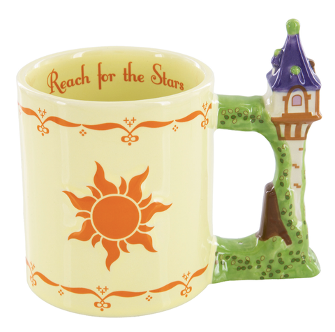 Rapunzel Tangled Reach for the Stars Sculpted Coffee Mug