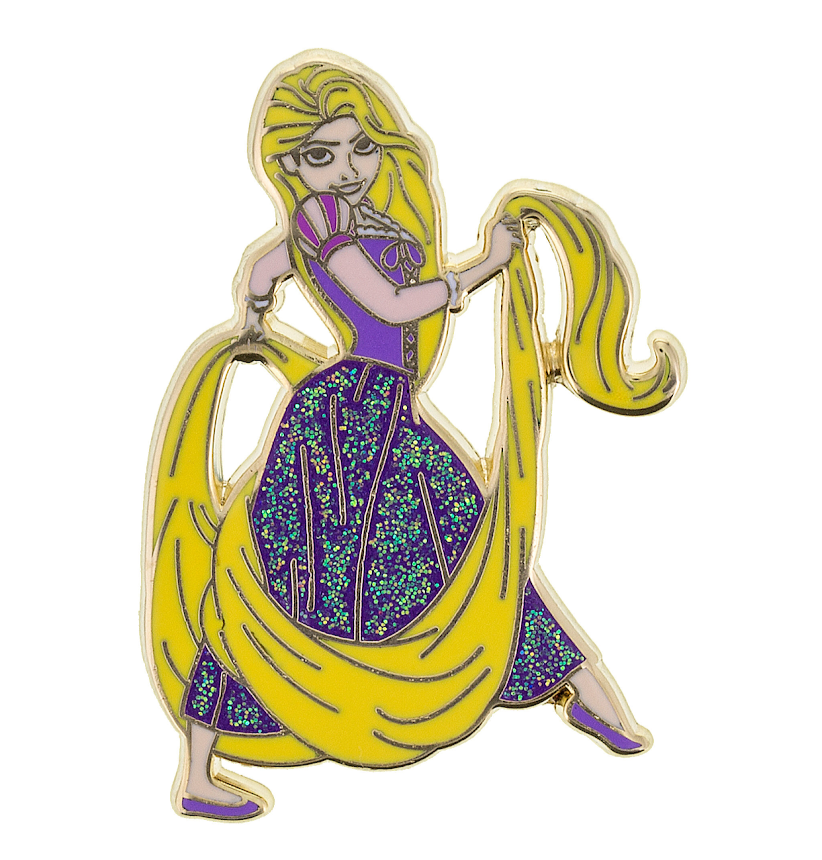 Rapunzel Glitter Dress Disney Pin