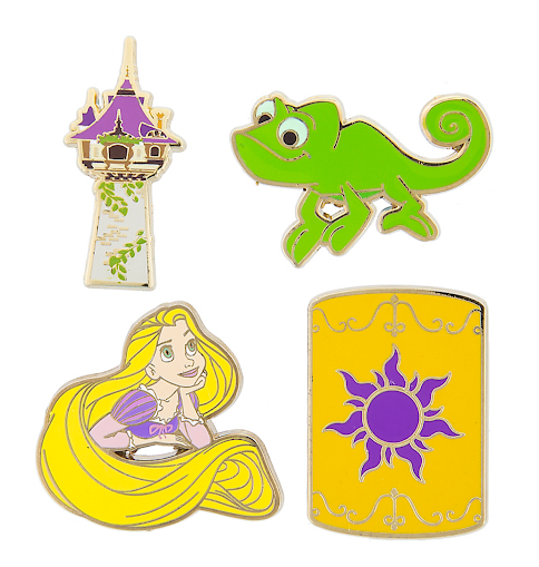 Rapunzel Tangled Flair Disney Pin Set