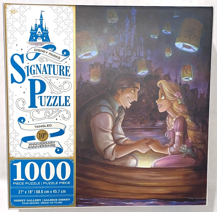 Rapunzel and Flynn Rider Tangled 10th Anniversary Disney Parks Signature Puzzle