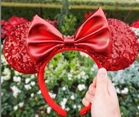 Redd Pirates of the Caribbean Minnie Mouse Ears Headband with Bow