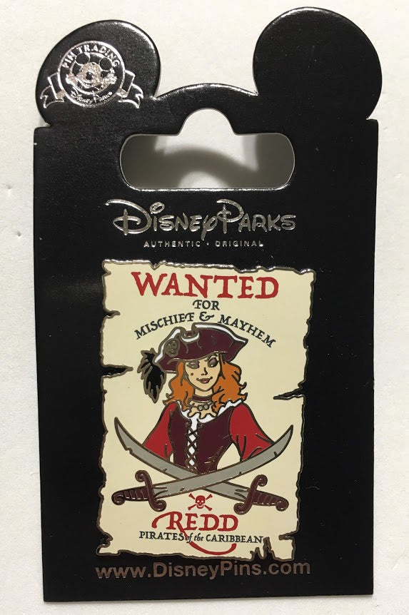 Redd Wanted Poster Redhead from Pirates of the Caribbean Disney Pin