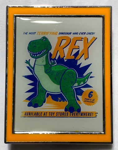 Rex Most Terrifying Dinosaur Toy Story 4 Mystery Disney Pin