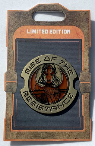 Rey Rise of the Resistance Star Wars Galaxy's Edge Disney Pin