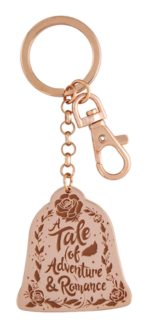 Rose Gold Belle A Tale of Adventure & Romance Disney Keychain