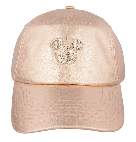 Rose Gold Mickey Mouse Icon Baseball Cap
