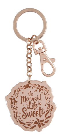 Rose Gold Ariel The Mermaid Life is Sweet Disney Keychain