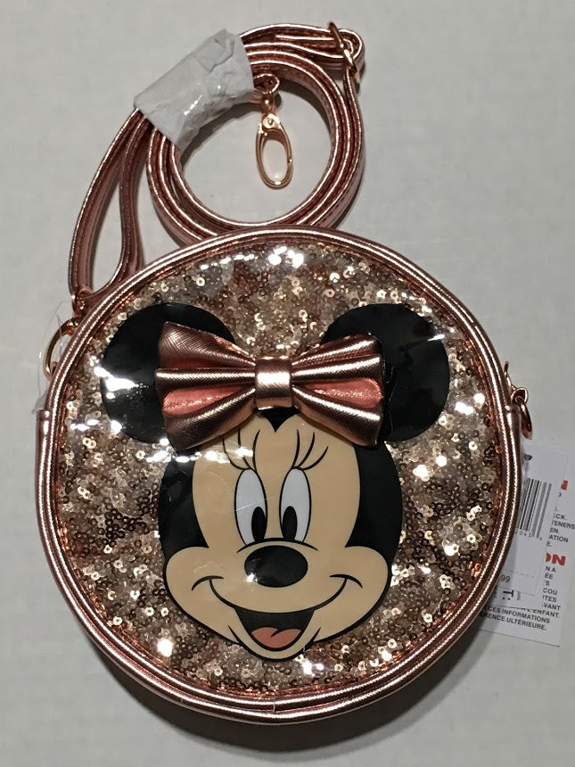 Minnie Mouse Rose Gold Girls Purse
