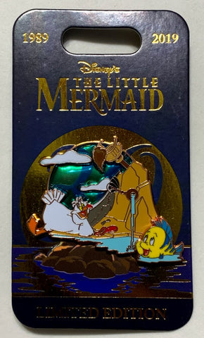 Scuttle and Flounder The Little Mermaid 30th Anniversary Disney Pin